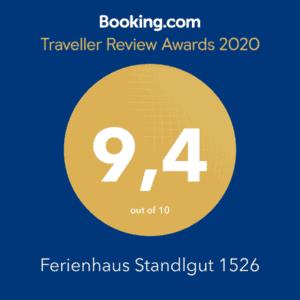 Booking.com Traveller Review Award 2020